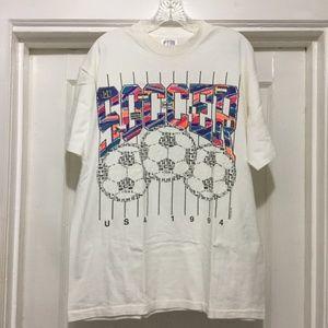 Vintage 1994 Single Stitch Soccer T-Shirt Size L